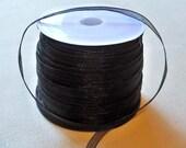"Black Organza Ribbon-1/8""-10 YDS"