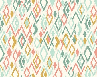 Andover/Makower UK - Ikat Diamonds in Multi - Sophia Collection - By The Yard