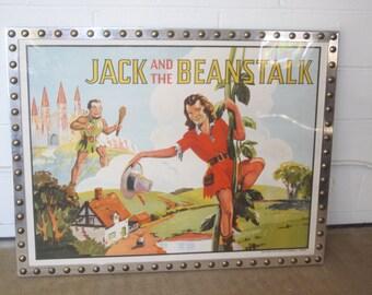 30s Vaudeville Chromolithograph Jack and the Beanstalk X-21 Urban Modern Custom Design Frame