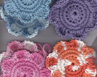 Hand Crocheted Cotton Face Scrubbies Set of 2
