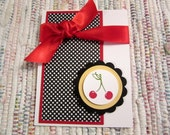 Cherry Note Cards  Set of 6
