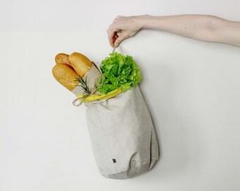 Linen storage bag, bread basket, kitchen storage basket, fabric basket, linen bag by Lovely Home Idea