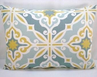 Decorative Harford Pillow Accent Pillow Macon Saffron Lumbar Pillow Cover 13x18