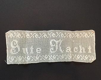 Gute Nacht Antique Lace Crochet. Good Night Crochet. German Crochet Lace  No.0010