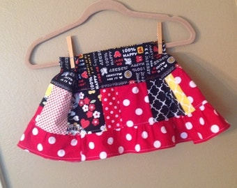 Disney theme skirt 2t, 3t. Maybe 4t Mickey Mouse Themed twirl skirt  -  ready to ship - Minnie