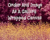 GALLERY WRAPPED CANVAS, Order Any Image, Many Sizes, Home Decor, Canvas Wrap Prints, Ready to Hang, Canvas Fine Art, Photography Wall Art