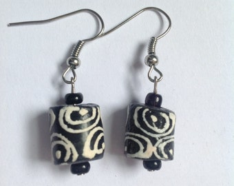 Zebra Print Earrings