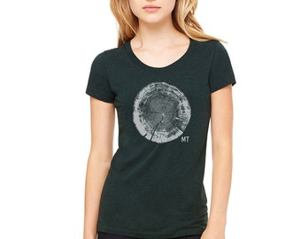 Tree Trunk Cross Section Tee - Women's