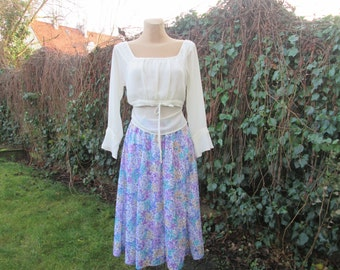 Full Skirt Vintage / EUR42 / 44 / UK14 / 16 / Elastic Waist / Lining