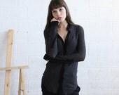 Striped Knit blouse, Dark Gray