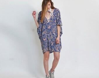 Lotus Dress, Blue