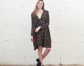 Winter Sale ***** V Neck Dress ,leopard print .