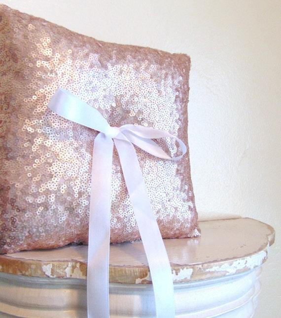 Vintage Blush Sequin Ring Bearer Pillow, Matte Blush Ring Bearer Pillow, Blush Wedding Decor, Blush Wedding, Blush Decor, VINTAGE BLUSH