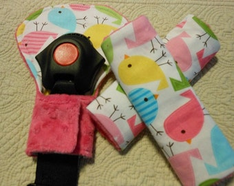 Spring Brids Infant/Toddler Reversible Car Seat Strap And Belly Buckle Cover