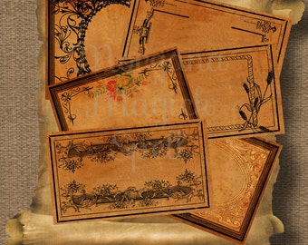 BLANK APOTHECARY LABELS, Magick Potion Ingredient Labels, Herb Labels, Digital Collage Sheets, Wicca, Witchcraft,  Spell Ingredient