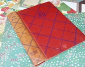 Junk Journal Paper Pack - Red/Teal/Multi with Vintage Cover