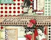 Mabel's Diary Planner Pockets/Journal Embellishments