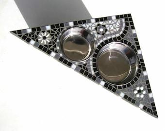 Bloomin Mosaic Diner, wall mounted feeder, medium dog feeder, corner dog feeder