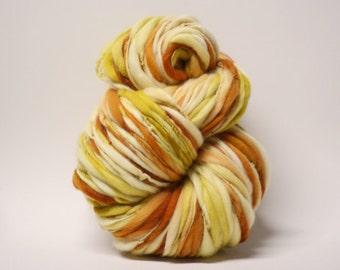 Handspun Thick and Thin Merino Wool Yarn Slub  tts(tm) Hand dyed Half-Pounder xLR 1601b