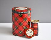 Collection of Vintage Tartan Plaid Items -  Tape Canisters and Skotch Ice Pack