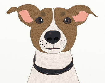 Puppy love. Custom pet portrait