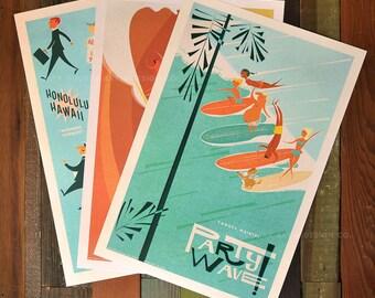 Island Life Series  - 12x18 Retro Hawaii Print Series