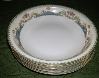 4 Vintage Meito Ivory China Made In Occupied Japan Orleans Shape Soup Bowls