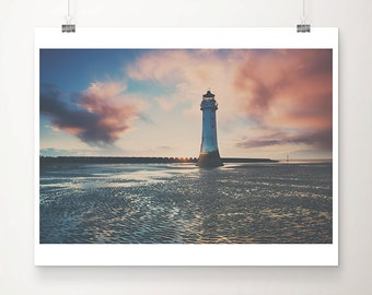 lighthouse photograph beach photograph ocean photograph sunset photograph nautical decor lighthouse print lighthouse art