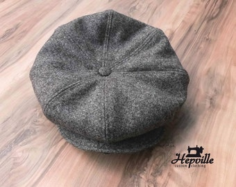Newsboy Cap - Tweed - Brown Salt & Pepper