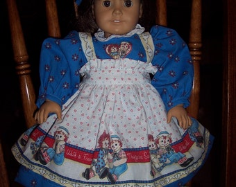 "NEW 4 Pc Daisy Kingdom Raggedy Ann Doll Dress Set fits 18 "" American Girl or Raggedy Ann Doll"