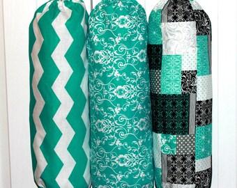 Best Selling Grocery Bag Holder Dispenser Trash Bag Holder Plastic Bag Holder Kitchen Organizer YOU PICK Your FABRIC Pattern Wonderful Gift
