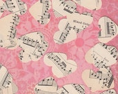 Sweetheart Vintage Music Sheet Heart Punches Confetti Party Supply Magnets Embellishments Jewelry Journals Scrapbooks Cards Tags Planners