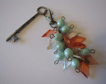 Dangle clasp/key ring/charm clasp/bronze clasp charm