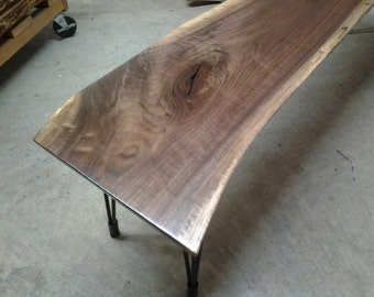 WALNUT SLAB BENCH