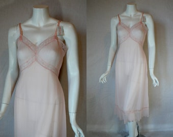 1950s Vanity Fair Pink Slip, 34, Small, Medium, Perma Pleats, New Old Stock