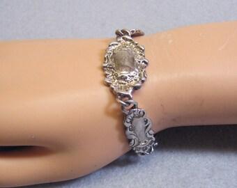 Vintage Sterling Silver Plated Premier Designs Victorian Look Bracelet