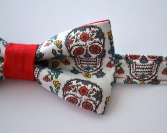 Bow Tie - Sugar Skull Bowtie - Day of the Dead - Dia De Los Muertos