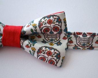 Bow Tie - Sugar Skull Bowtie - Day of the Dead - Dia De Los Muertos