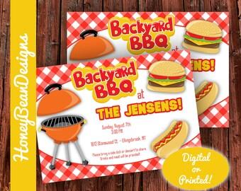 PRINTABLE Backyard BBQ Barbecue Neighborhood Cookout