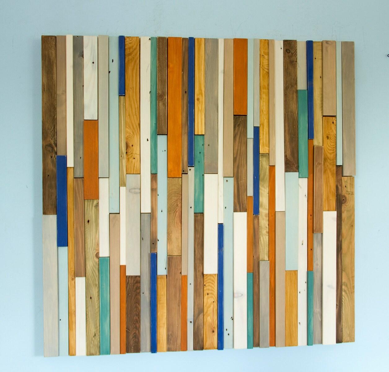 reclaimed wood wall art industrial wall art rustic wood art. Black Bedroom Furniture Sets. Home Design Ideas
