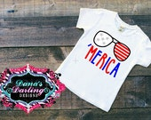 patriotic shirt - fourth of july - merica shirt - cool kid clothes - shirts for boys - red white and blue shirt - toddler boy clothes