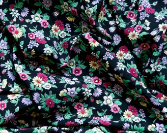 1950s Floral rayon fabric 4.4 yards