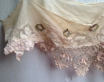 romance layer vintage french antique ecru shabby gypsy boho gauzey rustic boho flower girl barn wedding princess eco gypsy cami top bra