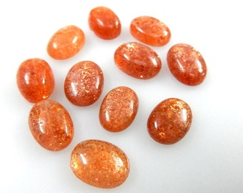 African Sun Stone Cabochon Oval 52Ct -11PC Super Top Quality  100% Natural Gemstone  Wholesale Price