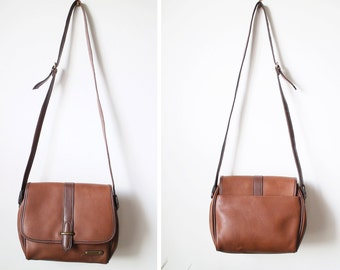 Vintage Liz Claiborne Brown Saddle Bag Style