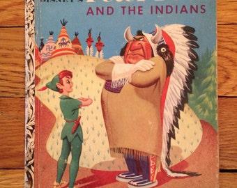 1954 Golden Book Walt Disney's Peter Pan and the Indians