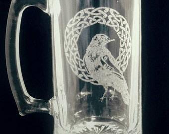 Celtic Raven Stein