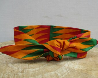 Kente headband, African Print headband, Hairband, Hair accessory