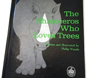 The Rhinoceros Who Loves Trees vintage book