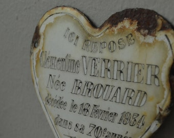 Vintage French Memorial Plaque